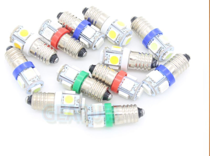 E10 5 smd 5led 5050 LED Good quality 1449 428 led Light 5SMD 1w Screw Base 12V