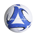 white color blue printing cheap size 5 TPU hand sewed soccerball