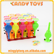 Cheap chinese sweet rattle-drum candy toy for children