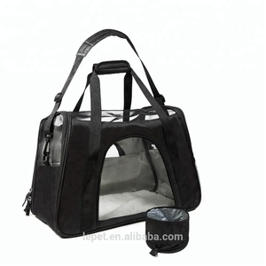 Pet travel carrier soft sided airline approved small cat carrier cat carry bag