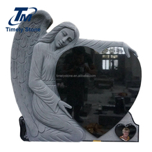 China Black Wholesale Cemetery Picture Angel Heart Tombstone