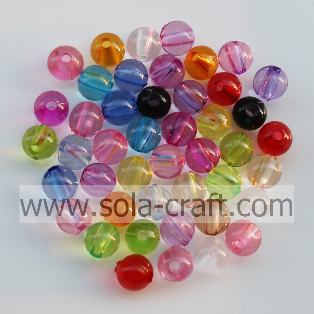Factory Price Transparent Acrylic Crystal Round Beads Loose Spacer Beads For Necklace /Bracelet /Hangbag