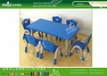 Kaiqi KQ60203C kindergarten furniture plastic children rectangle tables different colors and sizes available