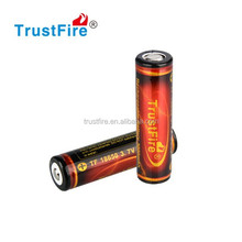 Trustfire 3.7V Protected 18650 li-ion battery 3000mAh rechargeable high power cell 18650 battery