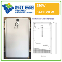 High efficiency A grade 60 cells 250w pv solar panel solar micro inverter hot sale in China