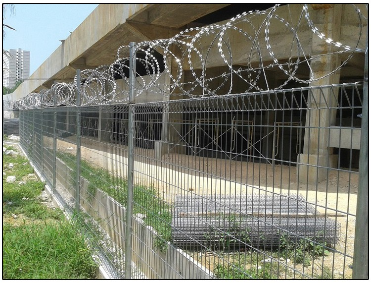 Brc weld mesh panel fence / roll top decorative wire fence, View BRC ...