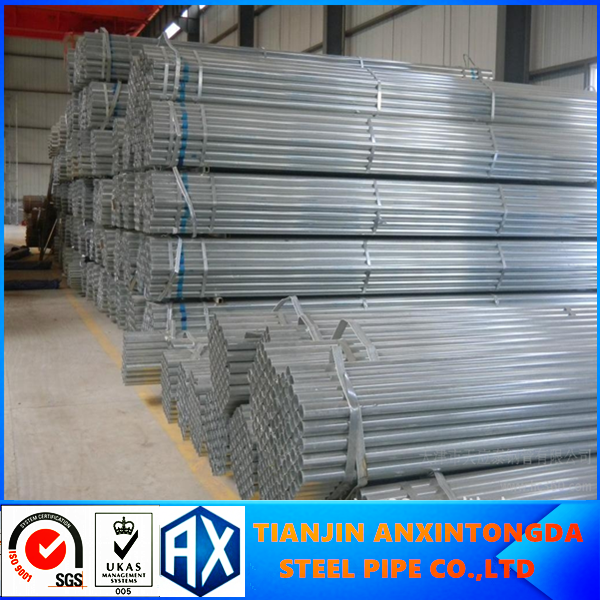 2016 hot sale gr.b galvanized steel pipe in Tianjin factory pre-galvenized oblong shape steel tube/pipe