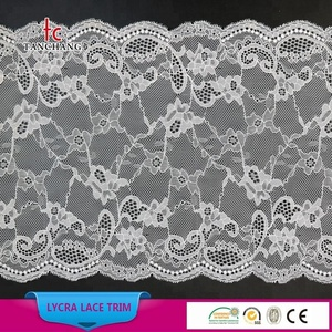 factory supply 22cm fashion korean lace trustwin lace jacquard lycra lace for bra LSHB7042