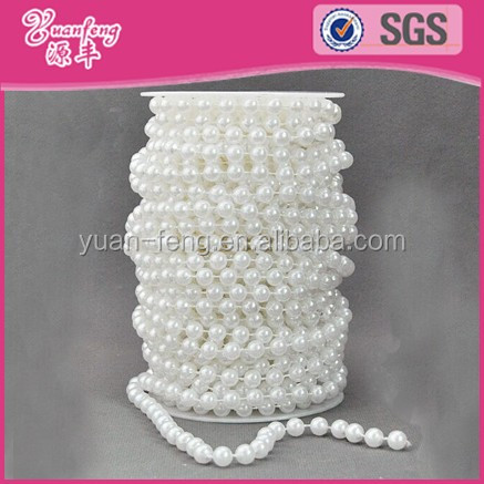 Roll pearl Beads chain strands Wedding Party pearl decoration string pearl for craft