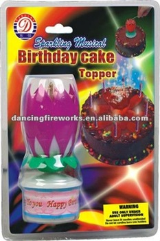 BIRTHDAY CAKE CANDLE TOPPER TOYS FIREWORKS