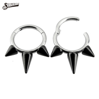 Fashion body piercing jewelry titanium BCR& CBR nose ring nose stud