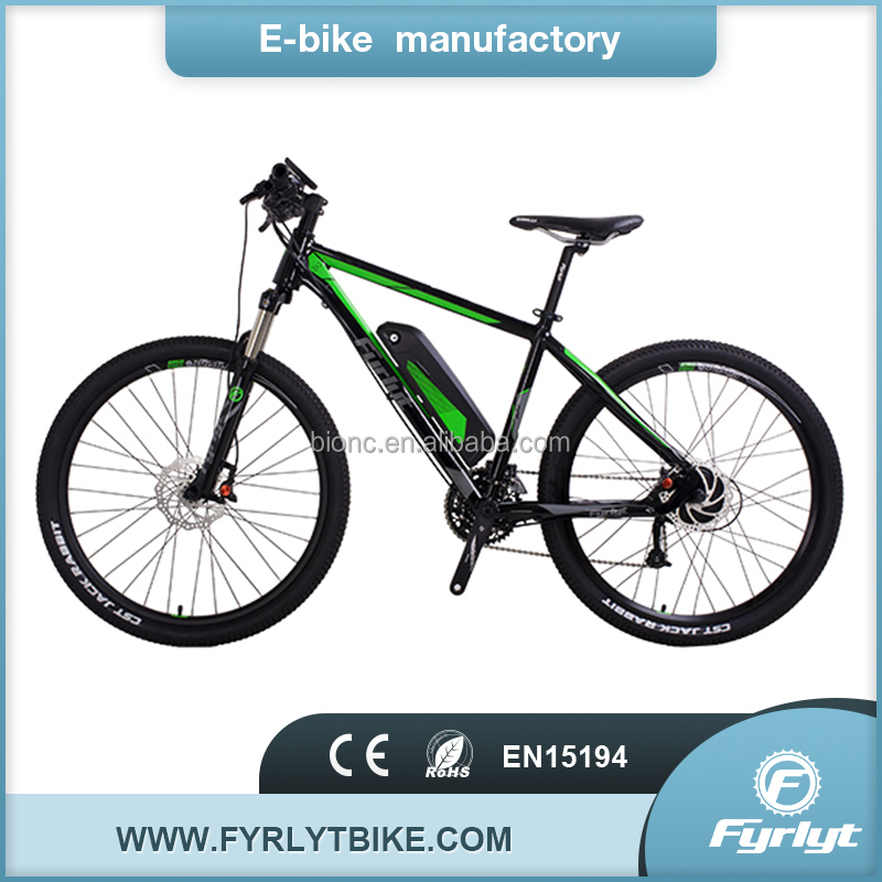 China green power electric bikes 26'' 350w48v mountain e bicycle for sale