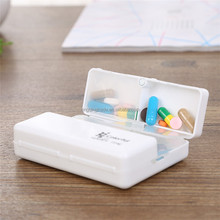 Carry-on Foldable Pill Box Mini Container Drug Tablet Storage Travel Case Holder 7 days Mini Cute Plastic Pill Box Medicine Case