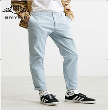 2017 Hot Fashion Design Men Pure Color Work Loose Casual Pants