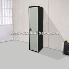 new style single door metal closet for clothes