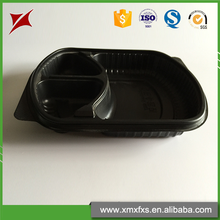 Custom made food 3 compartment disposable small plastic containers