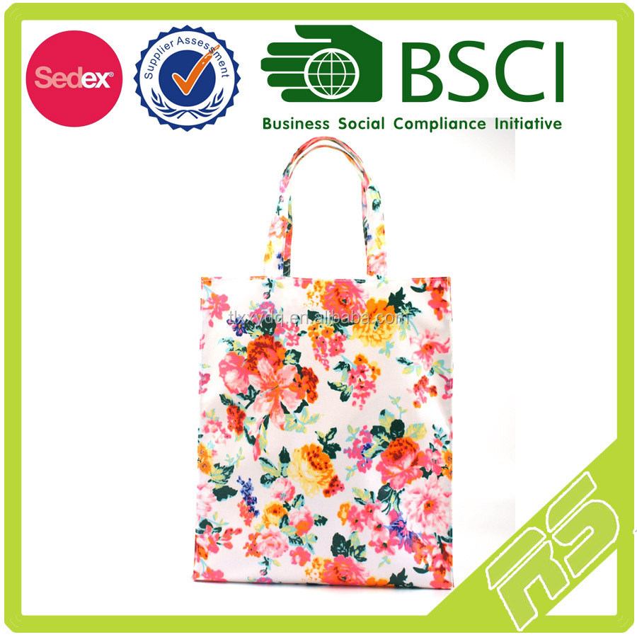 middle shopper magazine bag with flower desigh waterproofed