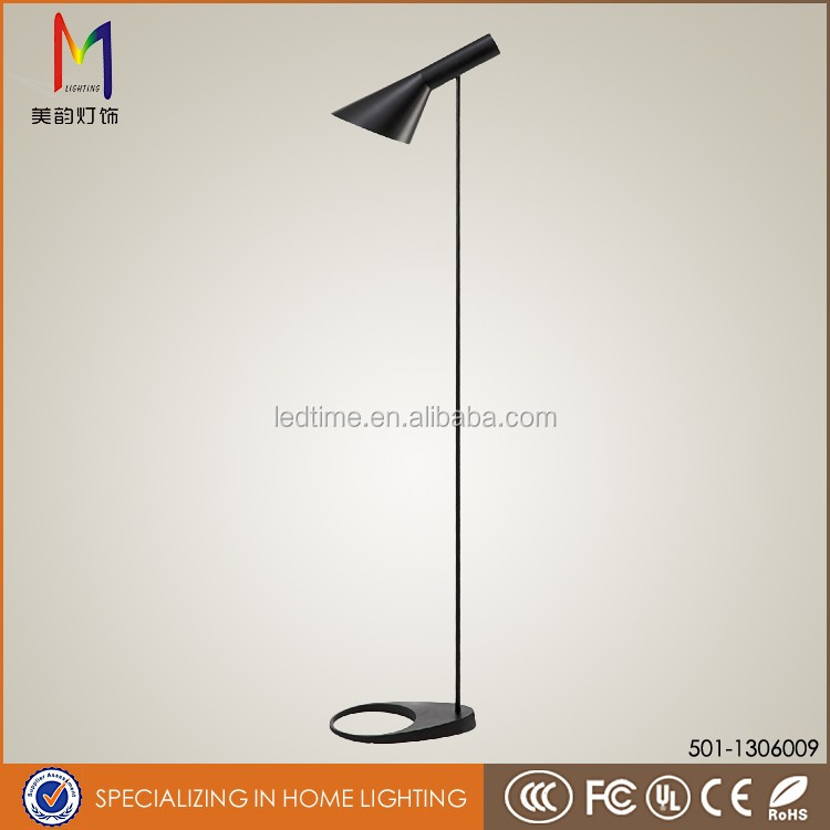 flexible decorative black AJ style new metal shade reading floor lamps