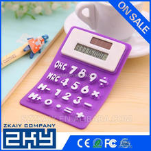 School and office supplies silicone solar calculator