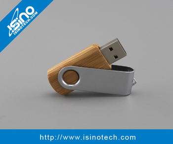 USB 2.0 Swivel Wooden USB Flash Drive as Promotional Gift