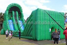 zipline inflatable, CE commercial extremely fun inflatable zip line for rental