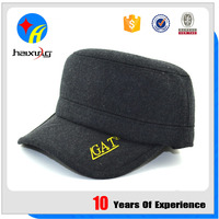 Blank Flat Top Cap Military Hat with Earflap Manufacturer