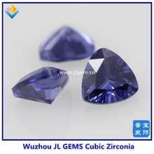 Wholesale tanzanite blue Color Trillion CZ stone