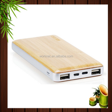 2017 new hot item 10000 mah bamboo wooden power bank for Christmas gift