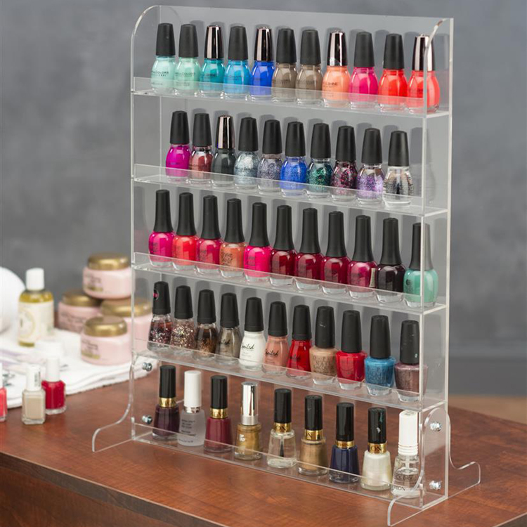 professional ODM/OEM clear acrylic nail polish small display stand rack