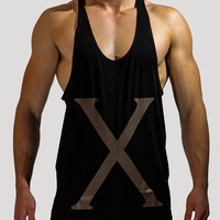 mens new printing custom gym stringer vest