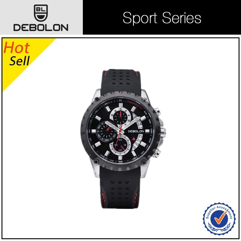 new products High quality leather strap watches Sport stainless steel watch