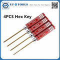 2017 4pcs Titanium Plating Red Hex Screw Driver Tool Kit Set For RC Car Aircraft Other Toys