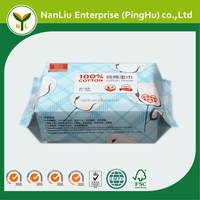 Custom 100% pure cotton dry wet tissue wipes for baby 100P (Professional baby wet wipes OEM/ODM)