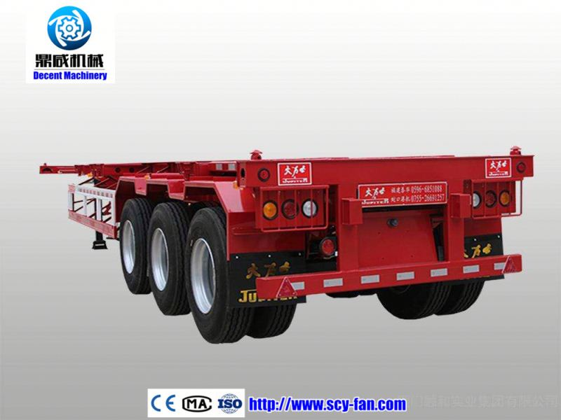 High quality 24V 7-pin socket flat bed semi trailer