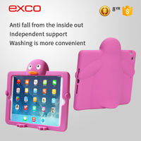 EXCO Kids Shockproof 3d cartoon silicone case for ipad mini tablet case