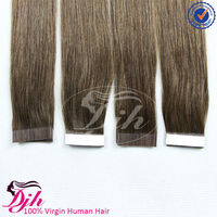 New Products 2016 virgin remy brazilian hair tapedouble drawn PU extensions 100% human hair