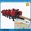 Hard Timber Processing Multiple Heads Horizontal Mobile Band Sawmill