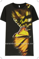 2013 New Arrival High quality 3D sublimation printing t shirt,woodland with vivid animal