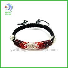Wholesale - infinity charm crystal adjusted shamballa bracelet