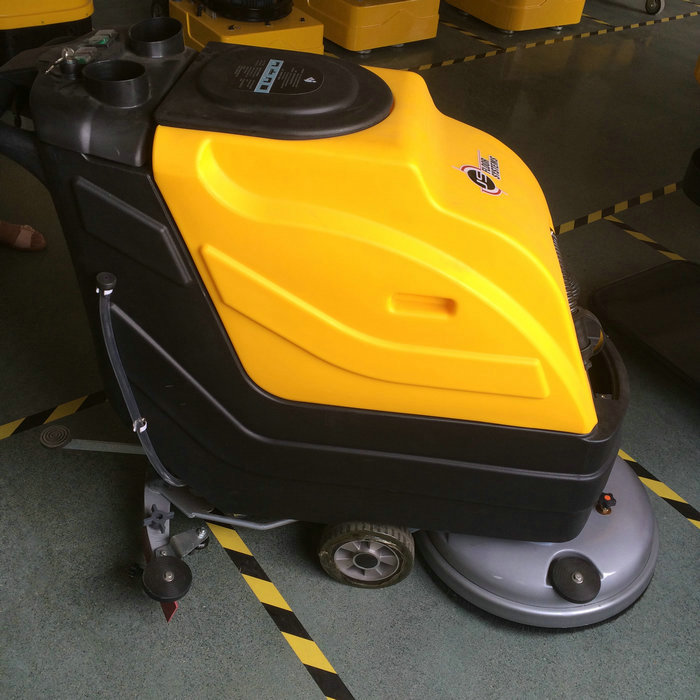 C5 walk behind battery powered auto scrubber floor cleaning machine