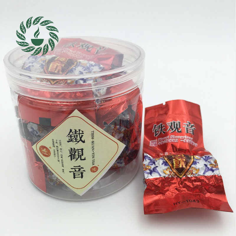 6 bags/tin China Authentic Rhyme Flavor Green Tea,Chinese Anxi Tieguanyin Tea Natural Organic Health Oolong Tea
