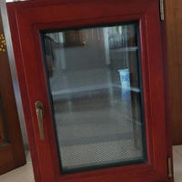 Elegant Wood Clad Aluminum Casement Glass