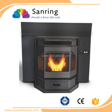 cast iron 13 KW inset wood burning pellet fireplace,pellet stove