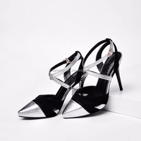 Custom make Womens Pointy Toe Stilettos Ankle Strap High Heels Dress Shoes
