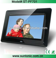cheap 7 inch digital photo frame with good factory price for promotion gifts
