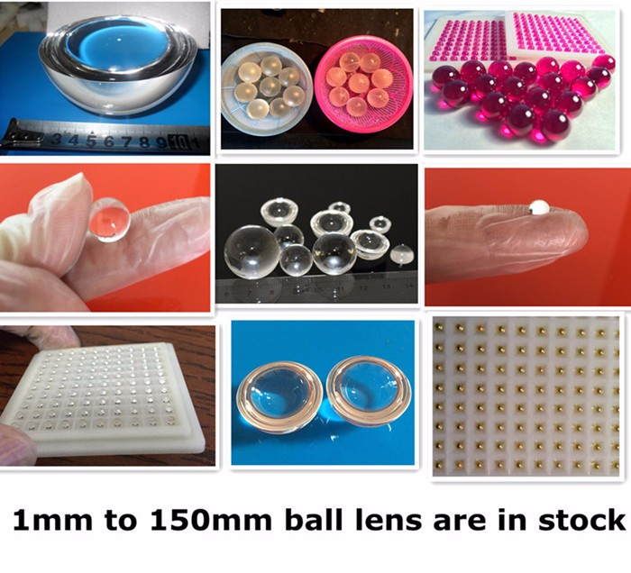 Optical precision ruby ball lens, ruby half ball lens