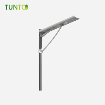 Aluminum alloy headlight integrated 8w solar led street light ,light shape bat for 2 years warranty with lithuim battery