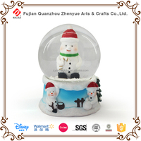 Resin handcrafts cartoon snowman snow globe christmas decoration