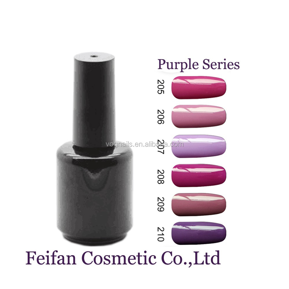 Fei Fan 2017 Hot Sale Purple Color Series Gel Nail Polish With Wholesale Price Free Samples