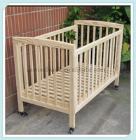 solid wood baby cot, wood cot bed for adult, single cot bed size